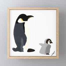 Penguins at Play Framed Mini Art Print