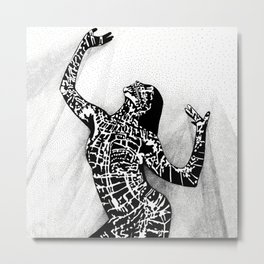 Girl In Shadow Metal Print