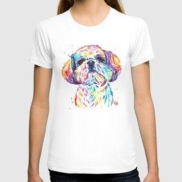 Shih Tzu / Shihtzu Watercolor Pet Portrait Painting By Lisa Whitehouse T-shirt