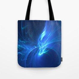 Electric Blue Fractal Tote Bag