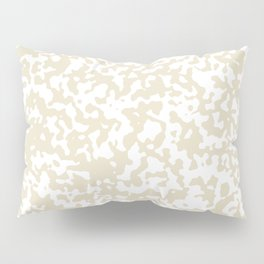 Small Spots - White and Pearl Brown Pillow Sham
