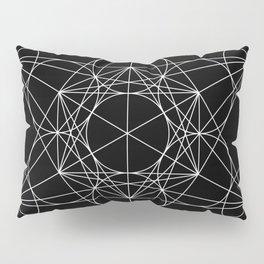 Metatron's Cube Black & White Pillow Sham