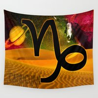 capricorn Wall Tapestries featuring Capricorn by LBH Dezines