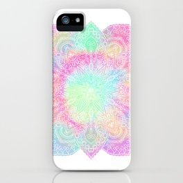 Muted pastel mandala iPhone Case