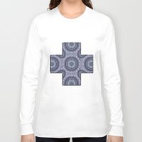china Long Sleeve T-shirts featuring China Blue by Peter Gross