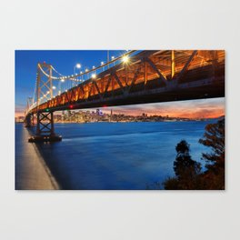 Downtown San Francisco Sunset Canvas Print