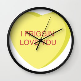 Ron Burgundy Conversation Heart Wall Clock