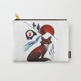 Fox on the Mountain Carry-All Pouch