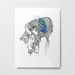 out of my mind Metal Print