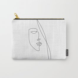 Half Face - Abstract Line Art Carry-All Pouch