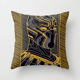 The King Of Wakanda - Panther Pattern Throw Pillow