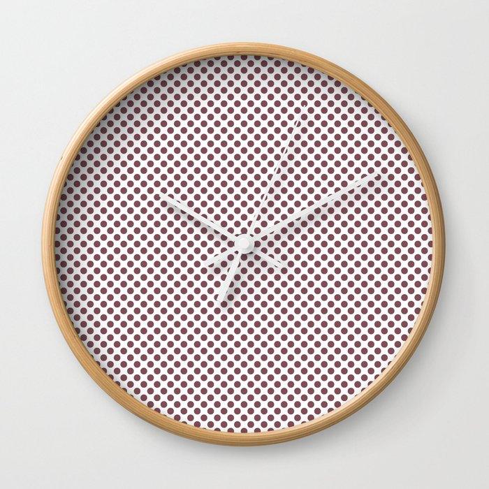 Crushed Berry Polka Dots Wall Clock