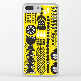 yellow picnic Clear iPhone Case