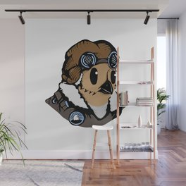 Sergeant Fluff n Feathers Wall Mural