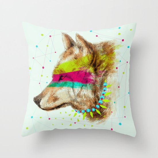 Cherokee Wolf II Throw Pillow