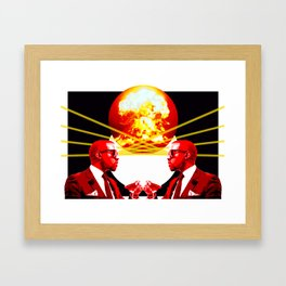 West God - End of the world - Digital Collage Framed Art Print
