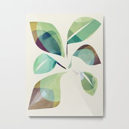 Loosey Goosey Leaves Metal Print