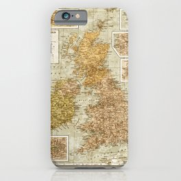 Vintage Map of Great Britain and Ireland, 1947 iPhone Case