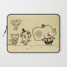 Forest Friends \ Cute Animals March\ elephant cats dogs  Laptop Sleeve