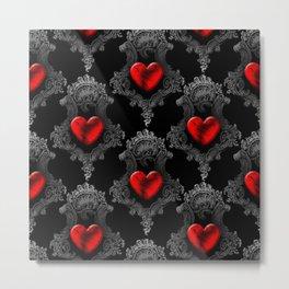 Ornate Goth Heart Design Metal Print