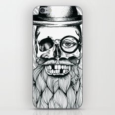 Mr. Skull Beard iPhone & iPod Skin