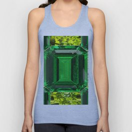 EMERALDS &  LIME GREEN PERIDOT GEMS BIRTHSTONES Unisex Tank Top