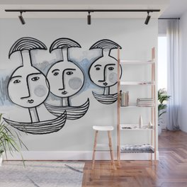 Boat Heads Wall Mural