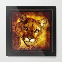 Big Cat Models: Cougars 01-01 Metal Print