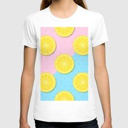 Lemon slices pattern T-shirt
