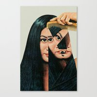 woman Canvas Prints featuring Normalization by Eugenia Loli