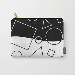 Black and White Geometric Shapes Wave Carry-All Pouch
