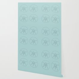 Sand Dollar Blessings Large Pattern - Pointilist Art Wallpaper