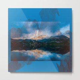 Mountain lake peaceful place Metal Print
