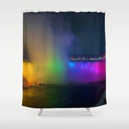 Rainbow Niagara Falls Waterfall (Color) Shower Curtain
