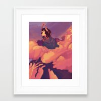 heroes Framed Art Prints featuring Heroes by James M. Fenner