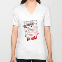 big bang V-neck T-shirts featuring Big Bang Theory Lyrics by Nxolab