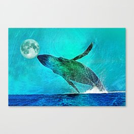 THE MOON'S A FOOTBALL Canvas Print
