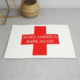 Make America Safe Again.Virus combat. Stay Home. Rug