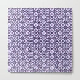 Pattern, Vintage, Floral, Arrangement, Seamless, Tiles. Vintage. Retro. Illustration.  Metal Print