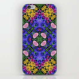 Floral Spectacular: Blue, Plum and Gold - repeating pattern, diamond, Olbrich Botanical Gardens, Mad iPhone Skin