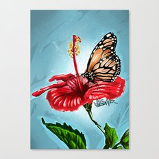 Butterfly on flower 2 Canvas Print
