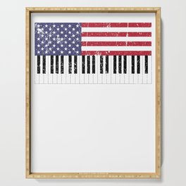 American Flag Piano design Serving Tray