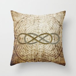 Double Infinity Silver Gold antique Throw Pillow