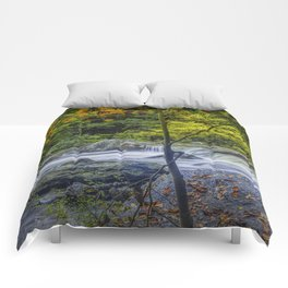 Rocky Broad River in October Comforters