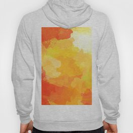 Colorful Abstract - red orange pattern Hoody