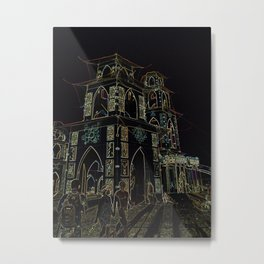 Temple Energy Metal Print
