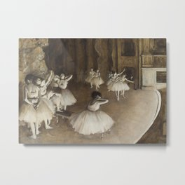 Ballet Rehearsal on Stage Metal Print