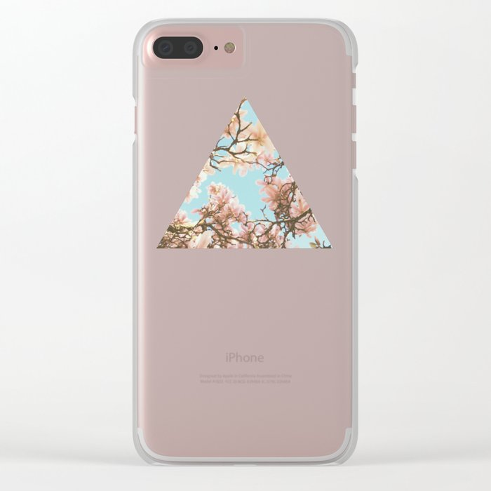 Pink Magnolia Clear iPhone Case