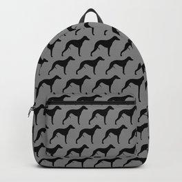 Black Whippet Silhouette(s) Backpack
