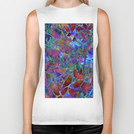 Floral Abstract Stained Glass G174 Biker Tank